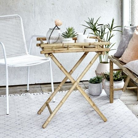 Mandisa Folding Bamboo Table | Design Vintage | SS17