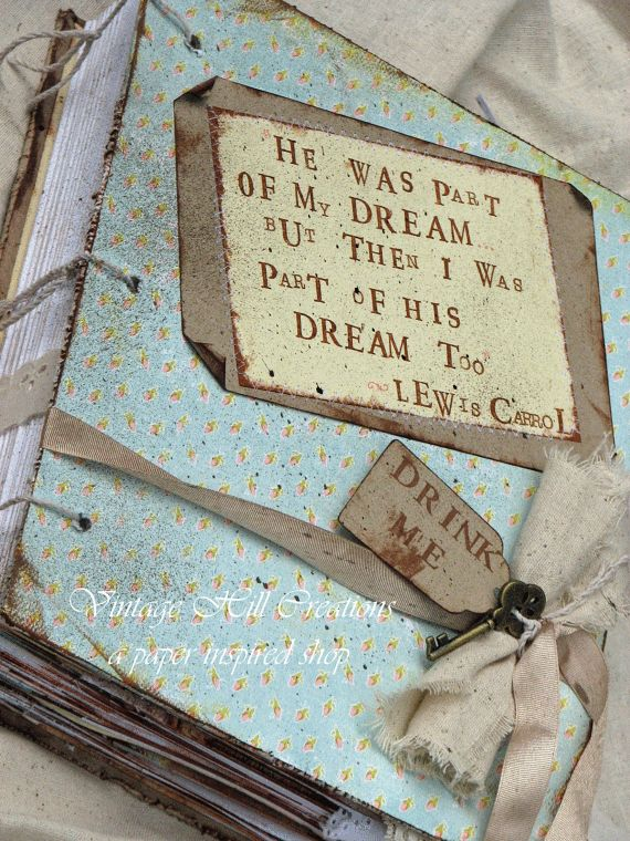 Holy crap. this is beautiful. Wedding Guest Book - Vintage - Alice in Wonderland- Pastel - Custom, Shabby Chic. $150.00, via Etsy.