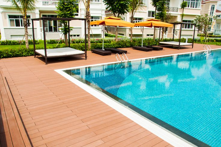 Flooring Material For Swimming Pools Outdoor Wood Plastic Pool Decking Outdoor Floor For Sale
