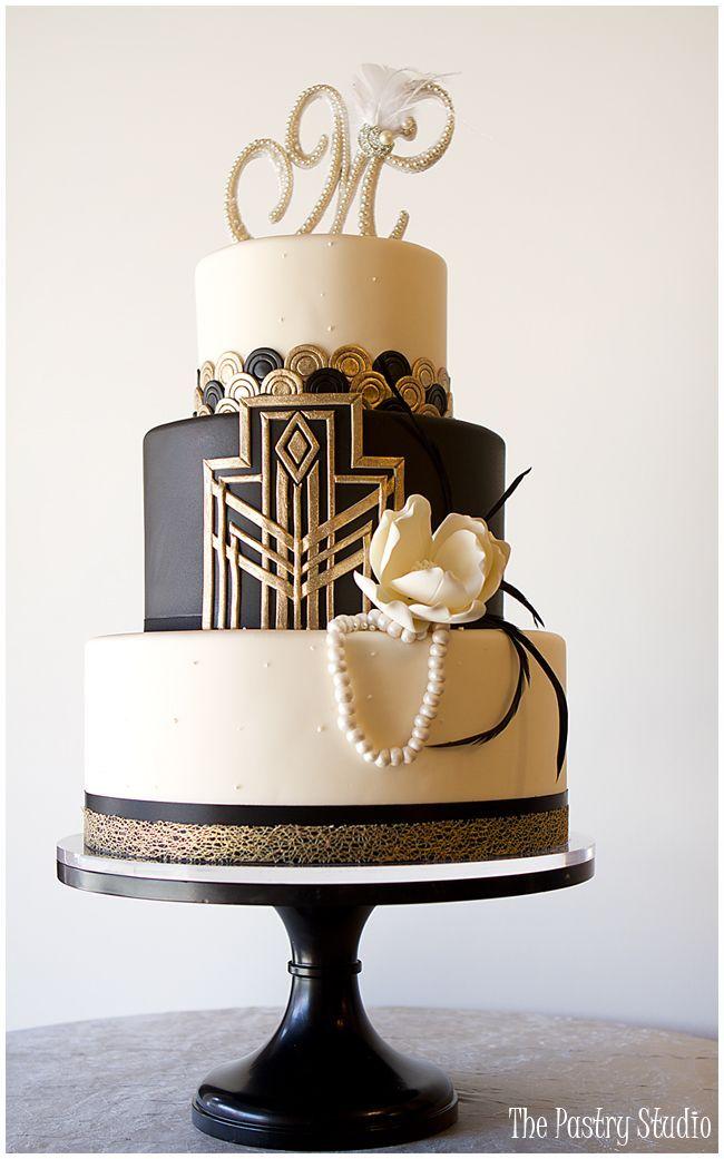 Bolo art déco - Casamento decoração Vintage Gatsby
