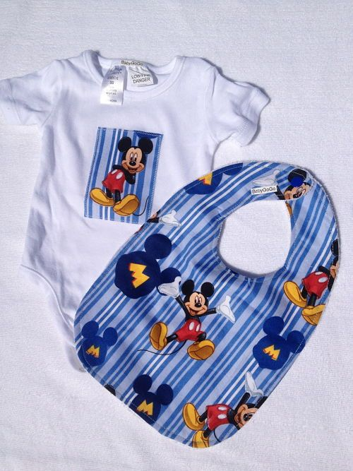 Mickey Mouse Gift Set- Onesie and Bib-Mickey Mouse gift set including onesie and bib.  Makes great baby shower gift