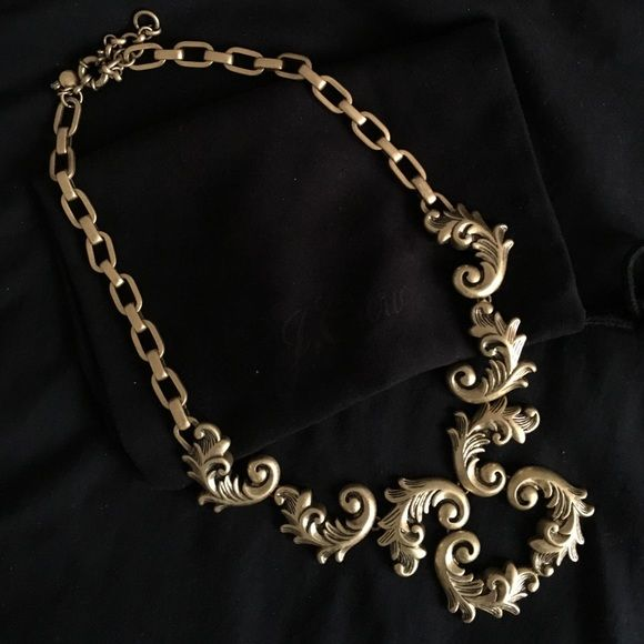 Antique gold baroque J. Crew statement necklace Brass, with light gold on plating. No damage. Excellent condition. No tags. This pretty piece was purchased in San Francisco JCrew (Not Factory) location in 2014. I'm selling this piece because I have so much gold pieces from JCrew and haven't really worn this particular piece very often. It's so pretty but I think it's time to let it go to someone who can make more use out of it (: J. Crew Jewelry Necklaces