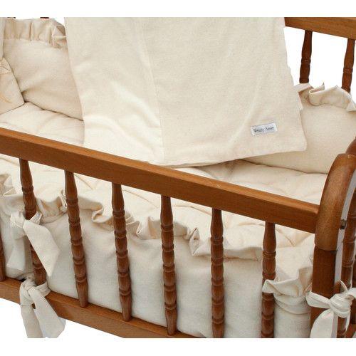 Found it at Wayfair - Ivory Velour Cradle Bedding Set