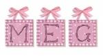 Pink Ladies Name Tiles