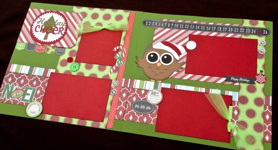 12x12 Christmas Scrapbook Page Kit, 12x12 Premade Christmas Scrapbook, 12x12 Premade Scrapbook pages, 12x12 Scrapbook Page