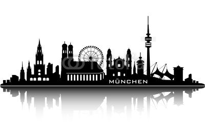 illustration munich skyline - Google Search