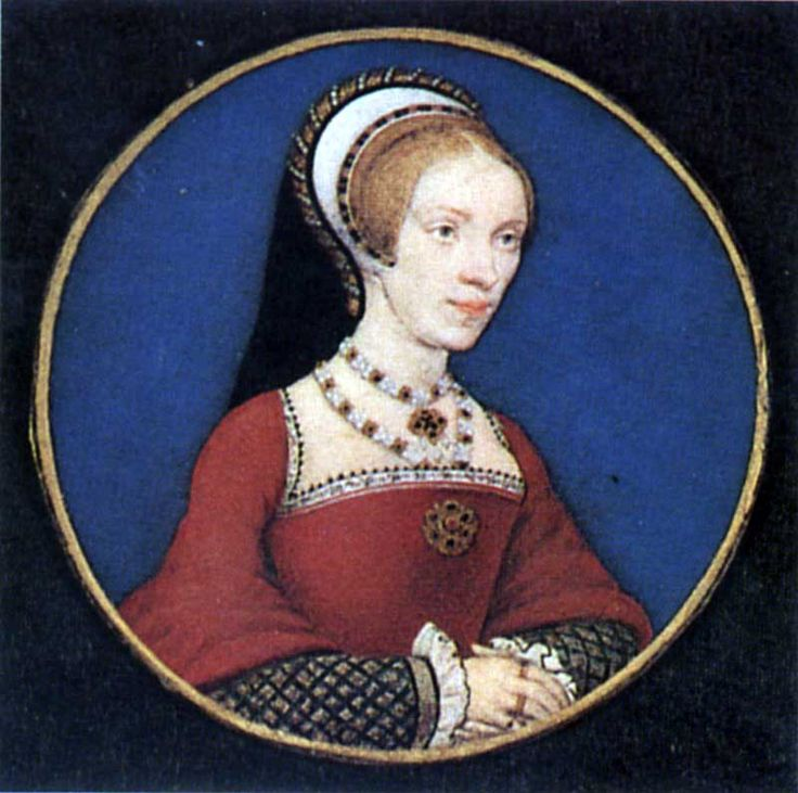 Elizabeth Grey, Lady Audley, miniature painting by Hans Holbein the Younger. c. 1540