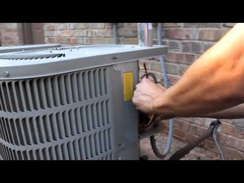 AC fan not working - how to repair broken HVAC Run Start Capacitor - air condition - http://www.thehowto.info/ac-fan-not-working-how-to-repair-broken-hvac-run-start-capacitor-air-condition/