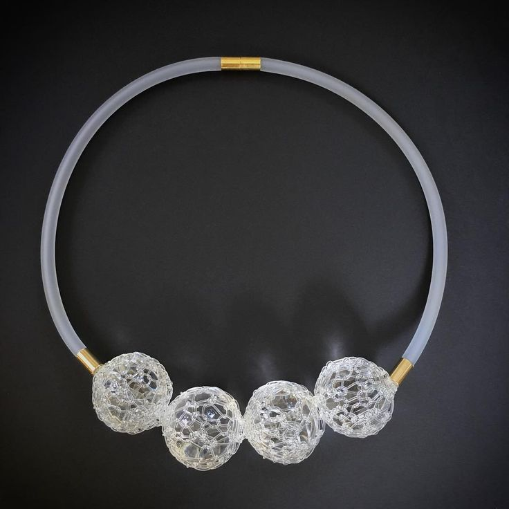 Crystal Webs statement necklace by Melissa Zook