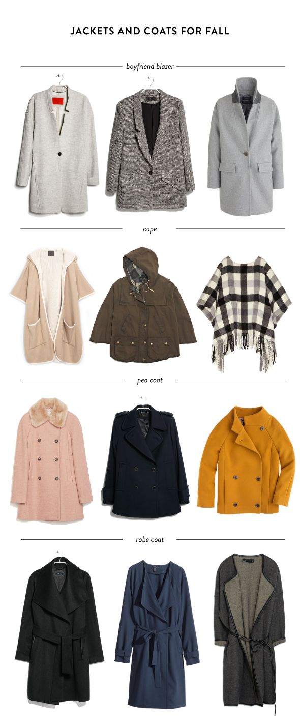 fall coats and jackets