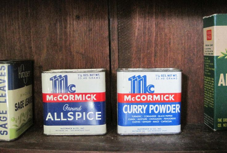 McCormack Spice Tins, Allspice, Curry Powder, Antique Spices, Tea Tin, Candy Tin, Vintage Spice Tin, Antique Spice Tin, Kitchen Decor by SharetheLoveVintage on Etsy