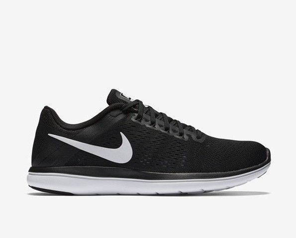fac1b4f7eaf25 Nike Flex 2016 RN 830751-001 Black White Cool Grey Women s Running Shoes ...