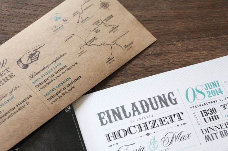 Individuelle Hochzeitspapeterie von Project-Pinpoint | Hochzeitsblog - The Little Wedding Corner