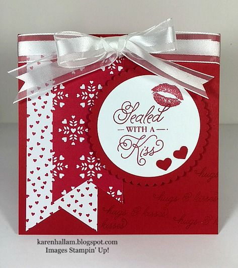 I wanted to share with you today some simple valentine cards that are quick and easy to make, yet make a bold statement simply by the Des...