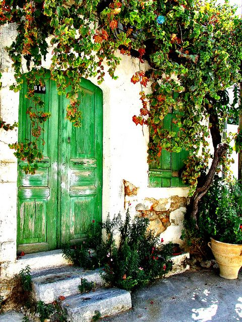 Crete, Greece- I know it's just a door but gosh it's beautiful!