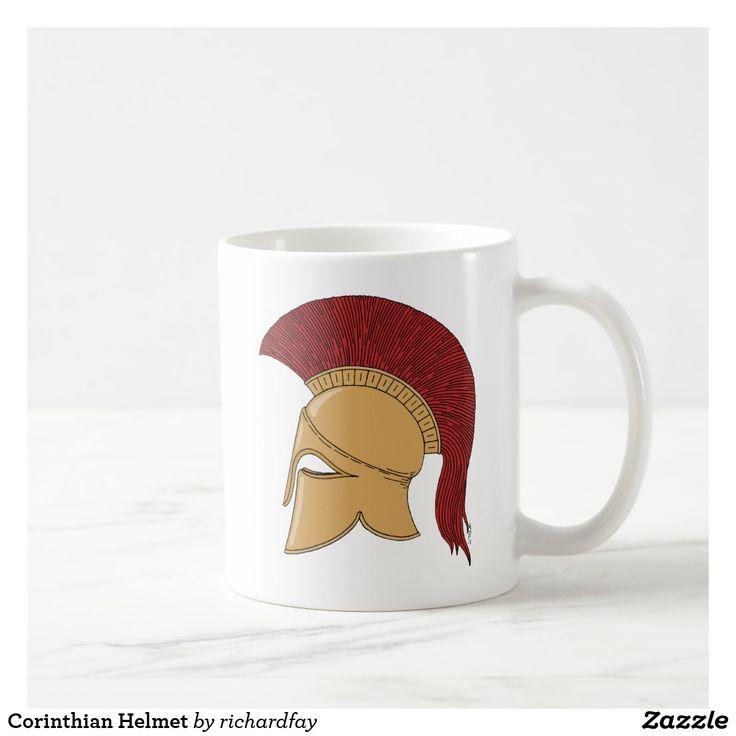 Corinthian Helmet Coffee Mug.  40% Off with code ZWEEKENDSALE Ends at 6pm PT.  #Zazzle #mug #Corinthian_helmet #Greek_helmet #ancient_helmet #bronze_helmet