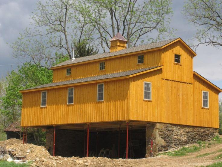 30 X 42 Monitor Barn Build On Old Bank Barn Foundation