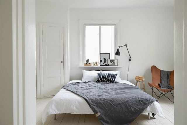 Whites and greys in a Swedish apartment