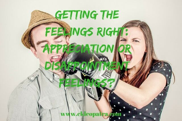 Getting the Feelings Right: Appreciation or Disappointment Feelings?