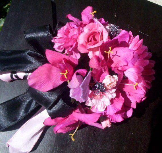 Bridal Bouquets Fuschia Wedding Flowers by AmoreBride