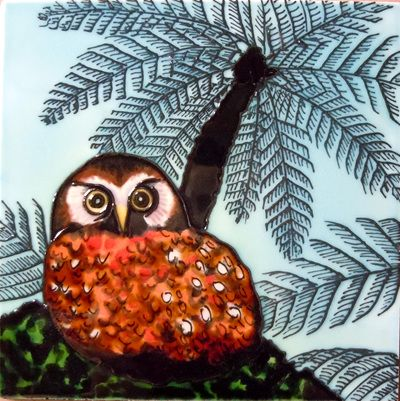 Ceramic Wall Art Anni's owl