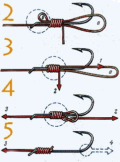 Fishing Hook Knots Illustrated