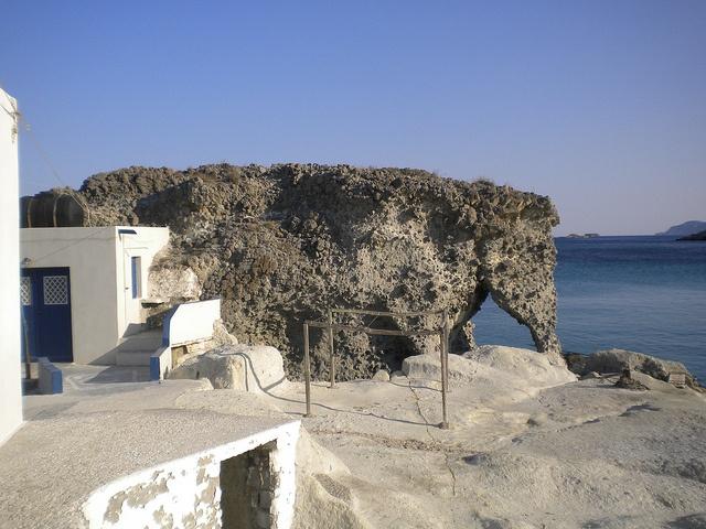 Elephant natural sculpture, Kimolos, Cyclades