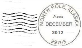 Hear from Santa Claus!   To receive the North Pole postmark on your holiday cards, you should: Purchase stamps at any post office. Affix the stamps to envelopes of your choice. Address the sealed envelopes, with the cards enclosed, to those on your mailing list. Mail them in a larger envelope, box, Priority Mail or Express Mail package to:  North Pole Holiday Cancellation Postmaster 4141 Postmark Dr Anchorage AK 88530-9998