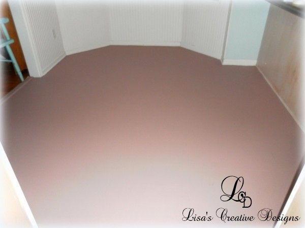 Yes, You Can Paint An Old Laminate Floor - Lisa's Creative Designs