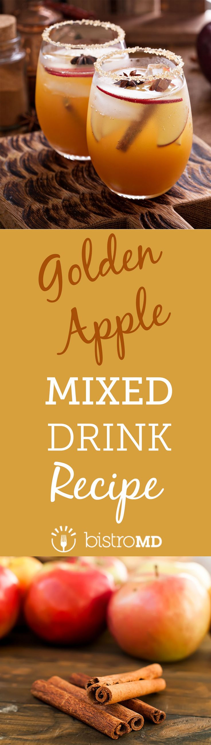 A healthier spin on your favorite fall mixed-drink – apple cider. Try bistroMD's Golden Apple recipe to enjoy a healthy drink without the sacrifice!