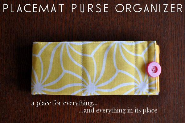 """placemat"" purse organizerCrafts Ideas, Diy Purses, Purses Organic, Purses Organisation, Organizers, Organic Purses, Placemat Purses, Pur Organic, Placemats Purses"