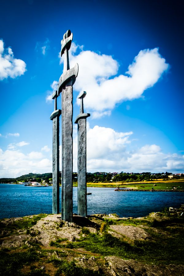 This was shot in Stavanger and are three huge viking swords that are placed in the mountain.Norway, Enjoy! By Alika