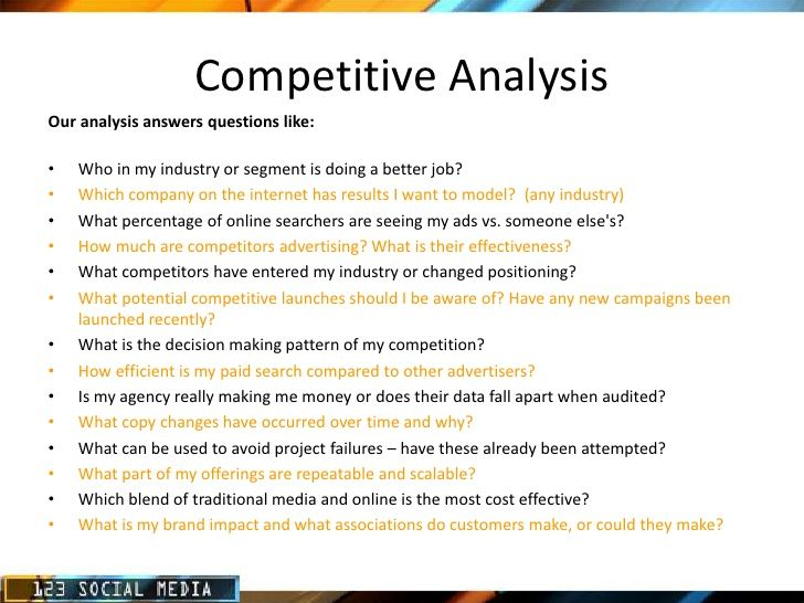 analysis of a questionnaire Market analysis questionnaire, free format and information on market analysis questionnaire.