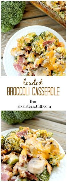 This Loaded Broccoli Casserole is so healthy and tastes AMAZING! You wouldn't…