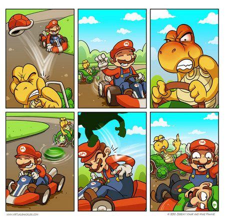 Mario Kart: Mario gets karma'd