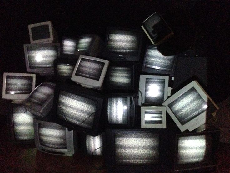 All these televisions are unplugged!