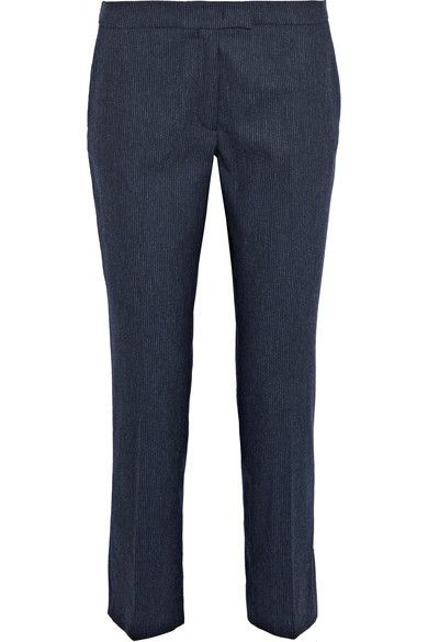 JOSEPH Finley Pinstriped Stretch Wool-Blend Tapered Pants. #joseph #cloth #pants