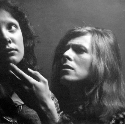 David Bowie and Dana Gillespie. Photo: Brian Ward