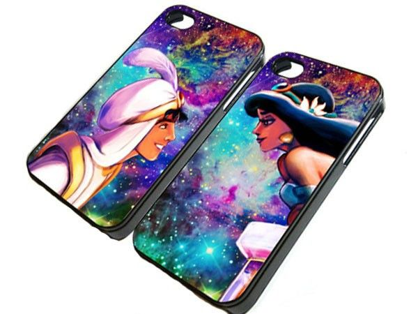 Aladdin and JAsmine in galaxy Nebula Space iPhone Case And Samsung Galaxy Case