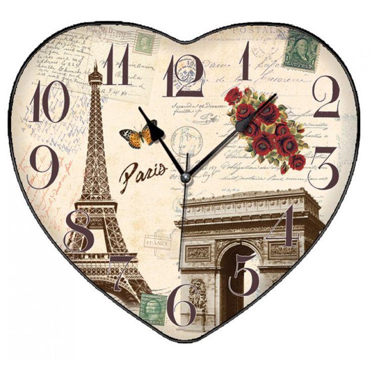 Kalpli Paris Dekoratif Duvar Saati, Kalpli Paris Dekoratif Duvar Saati Ürün Bilgisi ;Ürün maddesi : Gövdesi : Plastik, gerçek bombeli cam Ebat : 36 cm x 35 cm Büyük boy Mekaniz