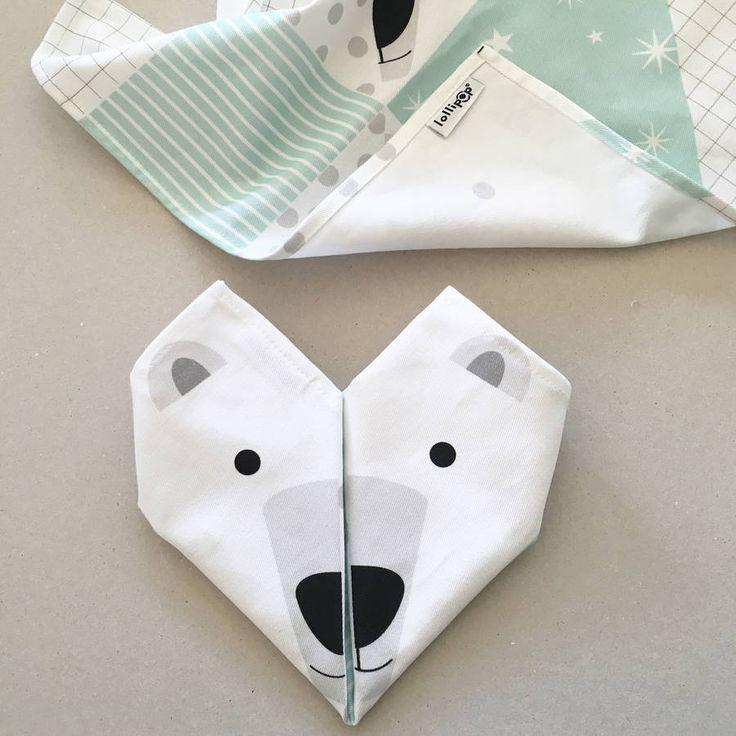Origami Cotton Napkins : Polar Bears Set Of Four
