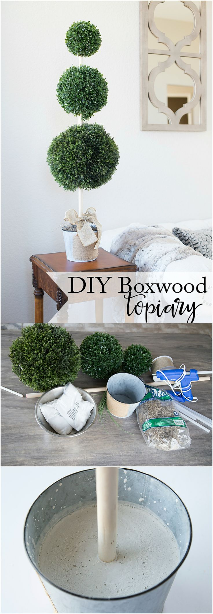 Tiered Boxwood DIY Topiary