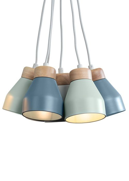 The Albert Cluster Pendant Lamp, in Blue. A pendant light designed by MADE Studio. £79. MADE.COM