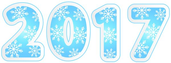 2017 with Snowflakes PNG Clipart Image
