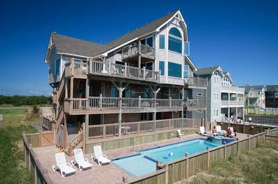 Dream Catcher by the Sea: 8 Bedroom, 8 1/2 Bath - Private Heated Pool - Oceanfront - Hatteras Village NC