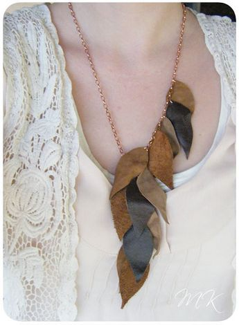 I think I could make this: handmade leather jewelry