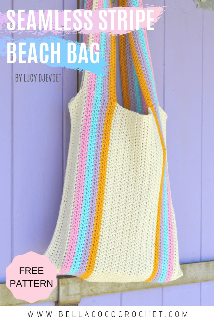 Seamless Stripe Beach Bag Free Pattern By Lucy Djevdet -