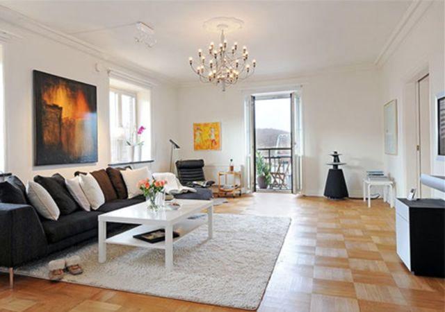Dazzling Apartment Interior Designs Regardless Of The Size: Beautiful Modern Gray Sofa White Coffee Table Apartment Interior Designs ~ Salernophoto.com