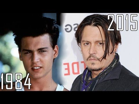 Johnny Depp (1984-2015) all movies list from 1984! How much has changed? Before and Now! - YouTube