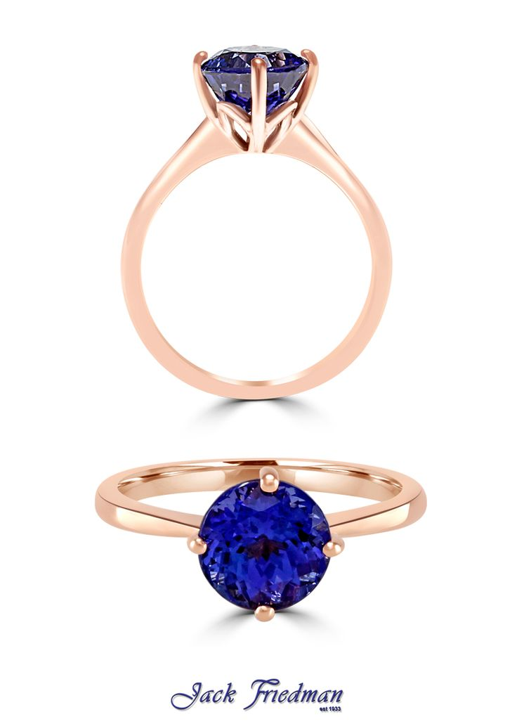 Rose gold and tanzanite tulip style ring... the new MUST have! Only at jackfriedman.co.za